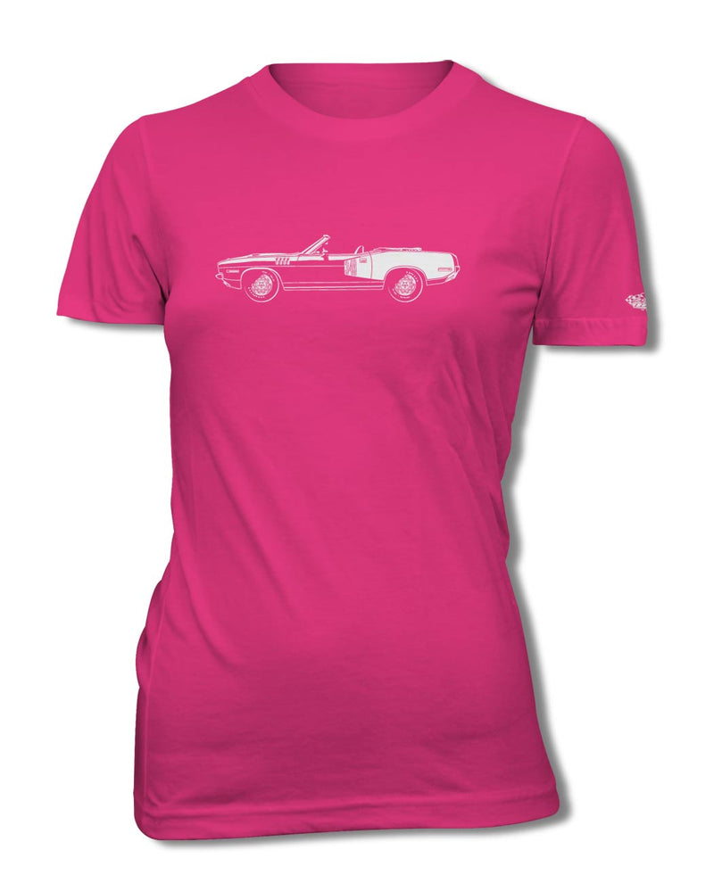 1971 Plymouth Barracuda 'Cuda 340 Convertible T-Shirt - Women - Side View
