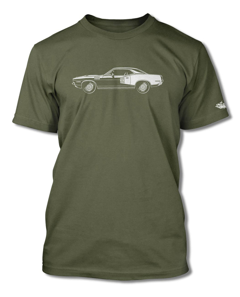 1971 Plymouth Barracuda 'Cuda 383 Coupe T-Shirt - Men - Side View