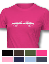 Plymouth Barracuda 'Cuda 1974 Coupe Women T-Shirt - Side View