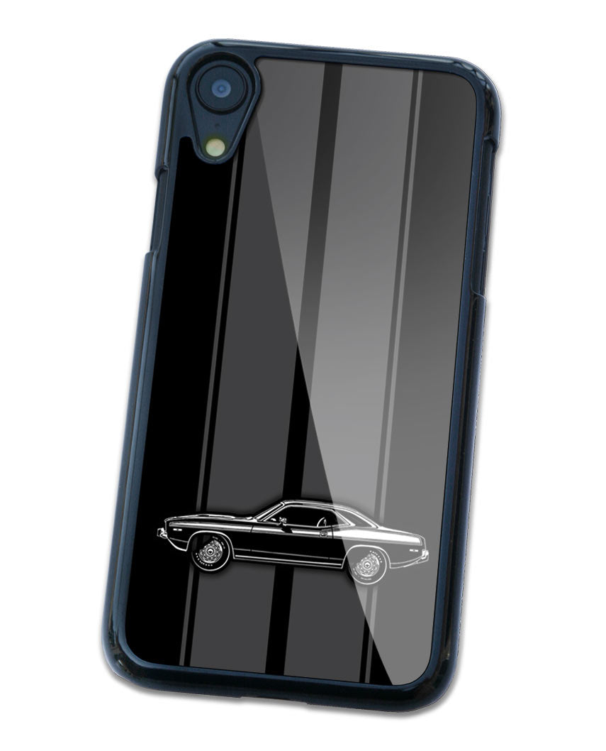 1974 Plymouth Barracuda 'Cuda 340 Coupe Smartphone Case - Racing Stripes