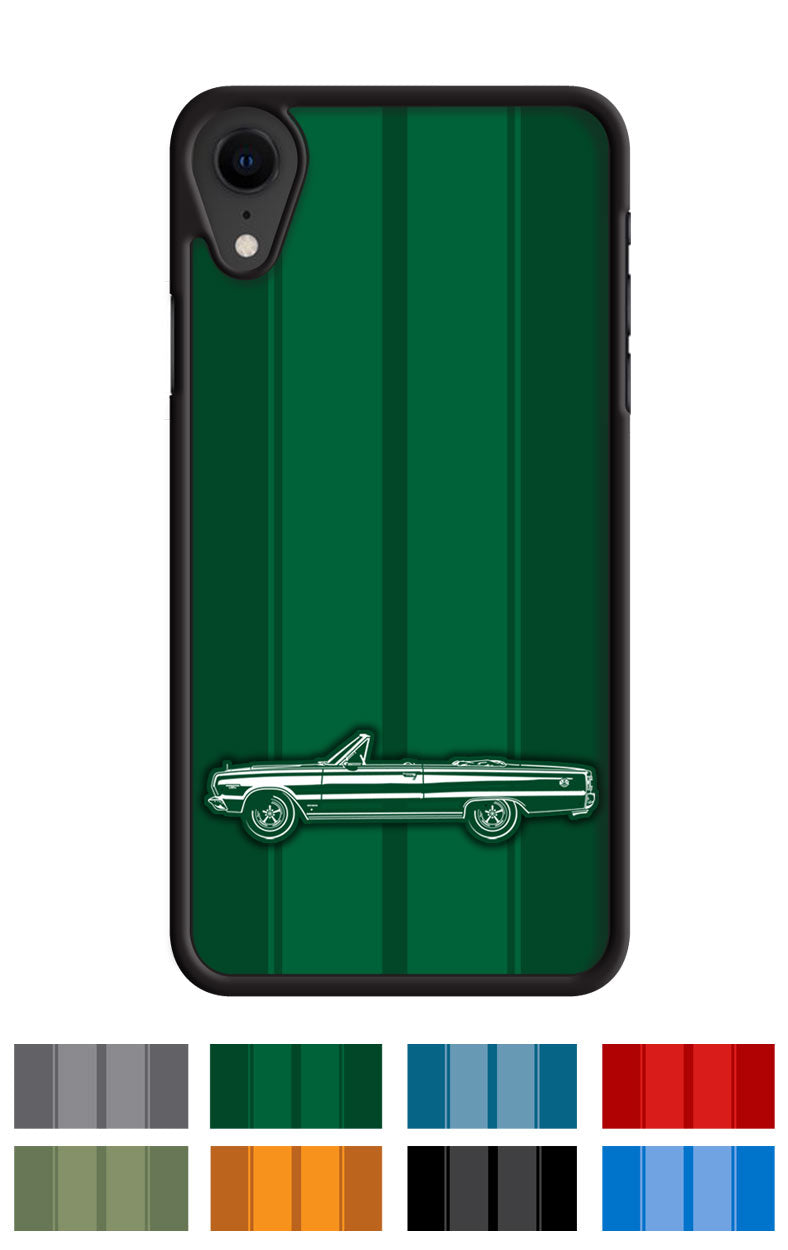 Plymouth GTX 1967 Convertible Smartphone Case - Racing Stripes