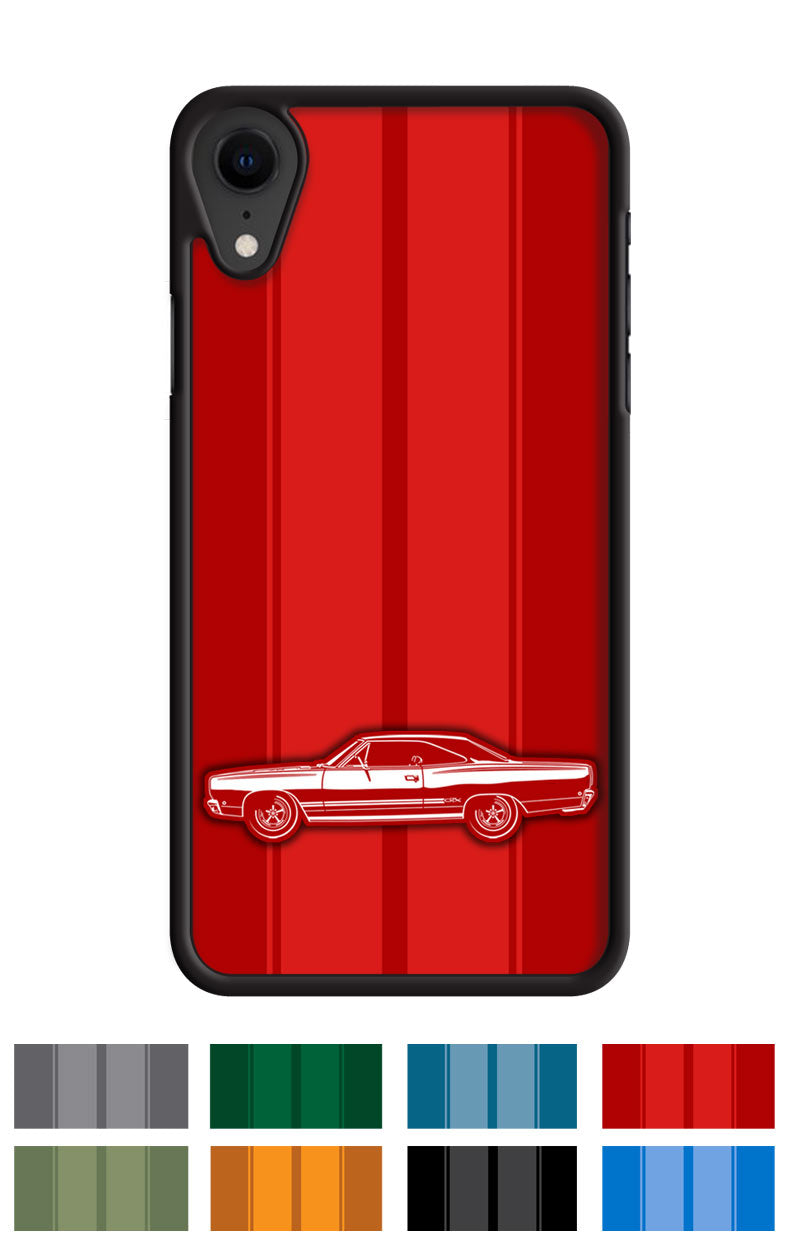 Plymouth GTX 1968 Coupe Smartphone Case - Racing Stripes