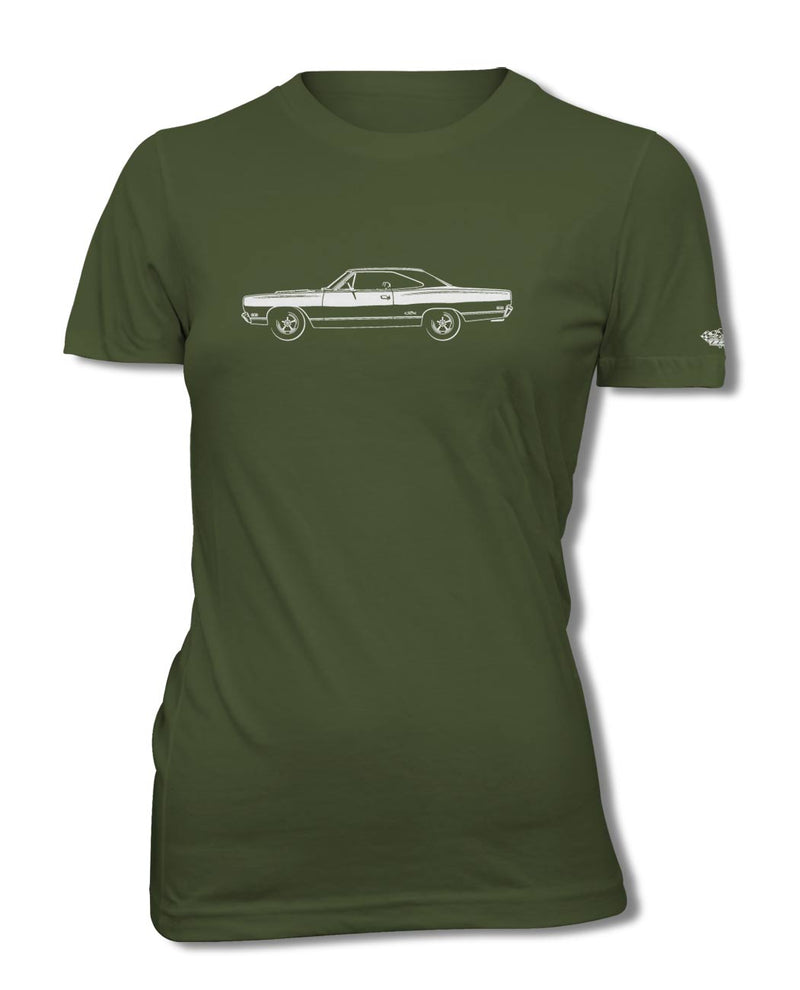 1969 Plymouth GTX Coupe T-Shirt - Women - Side View