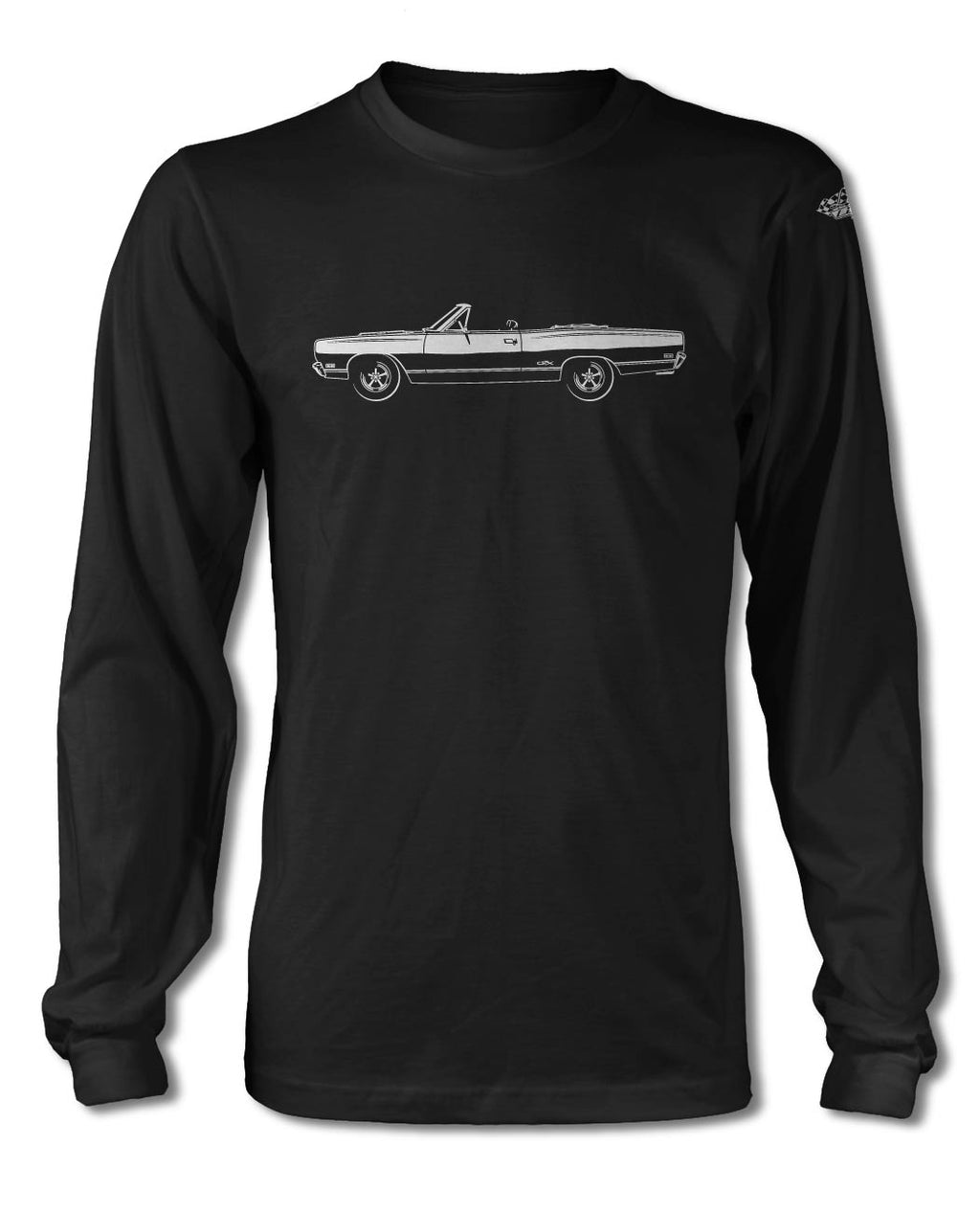 1969 Plymouth GTX Convertible T-Shirt - Long Sleeves - Side View