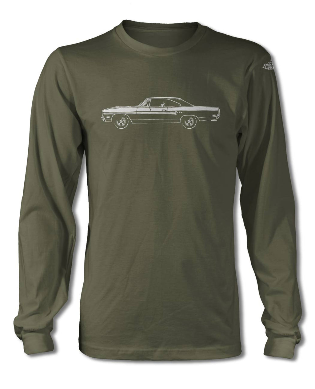 1970 Plymouth GTX Coupe T-Shirt - Long Sleeves - Side View