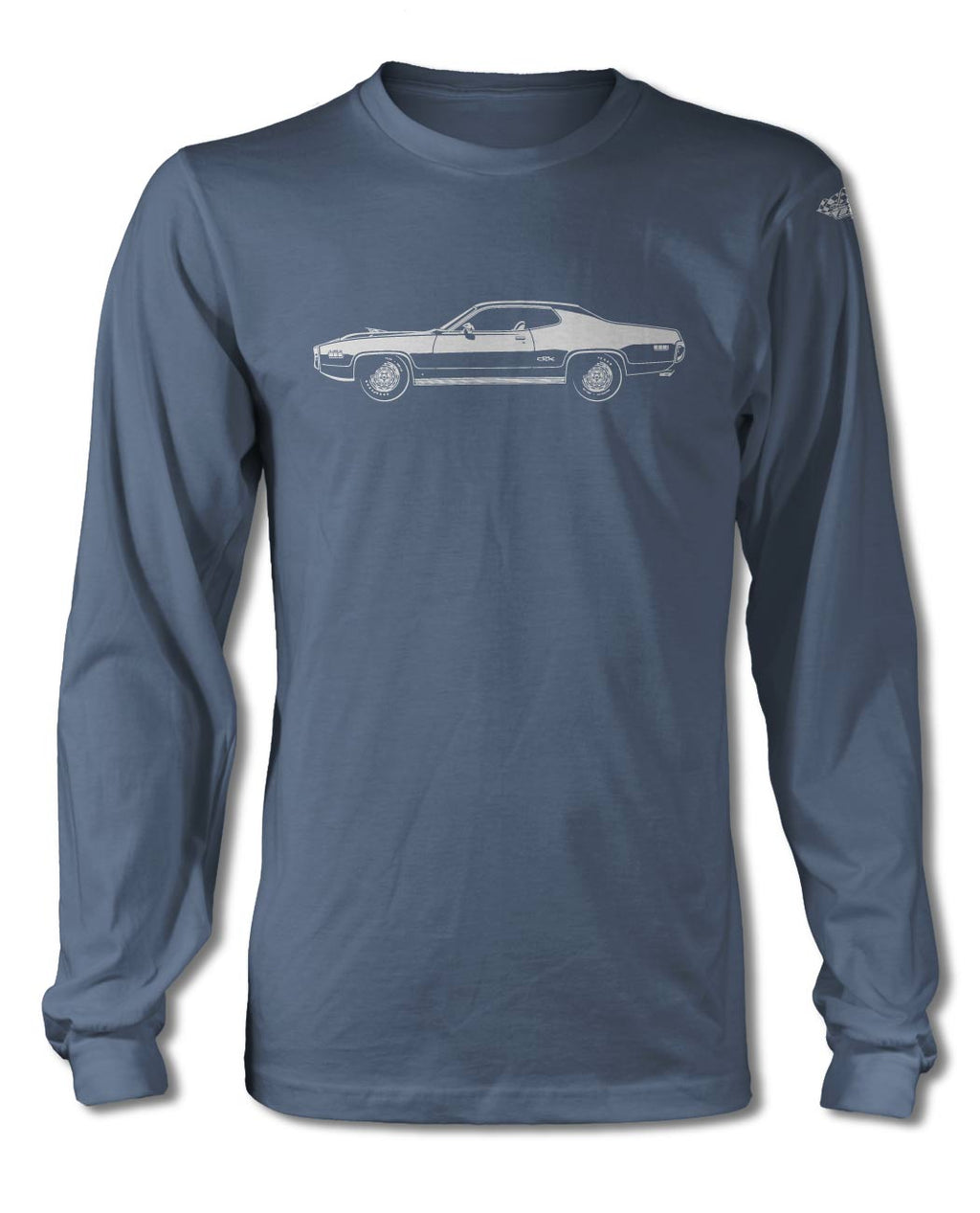 1971 Plymouth GTX 440-6 Coupe T-Shirt - Long Sleeves - Side View