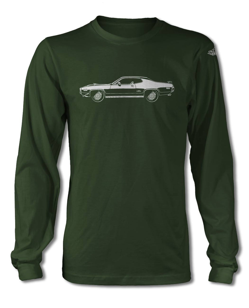 1971 Plymouth GTX HEMI Coupe T-Shirt - Long Sleeves - Side View