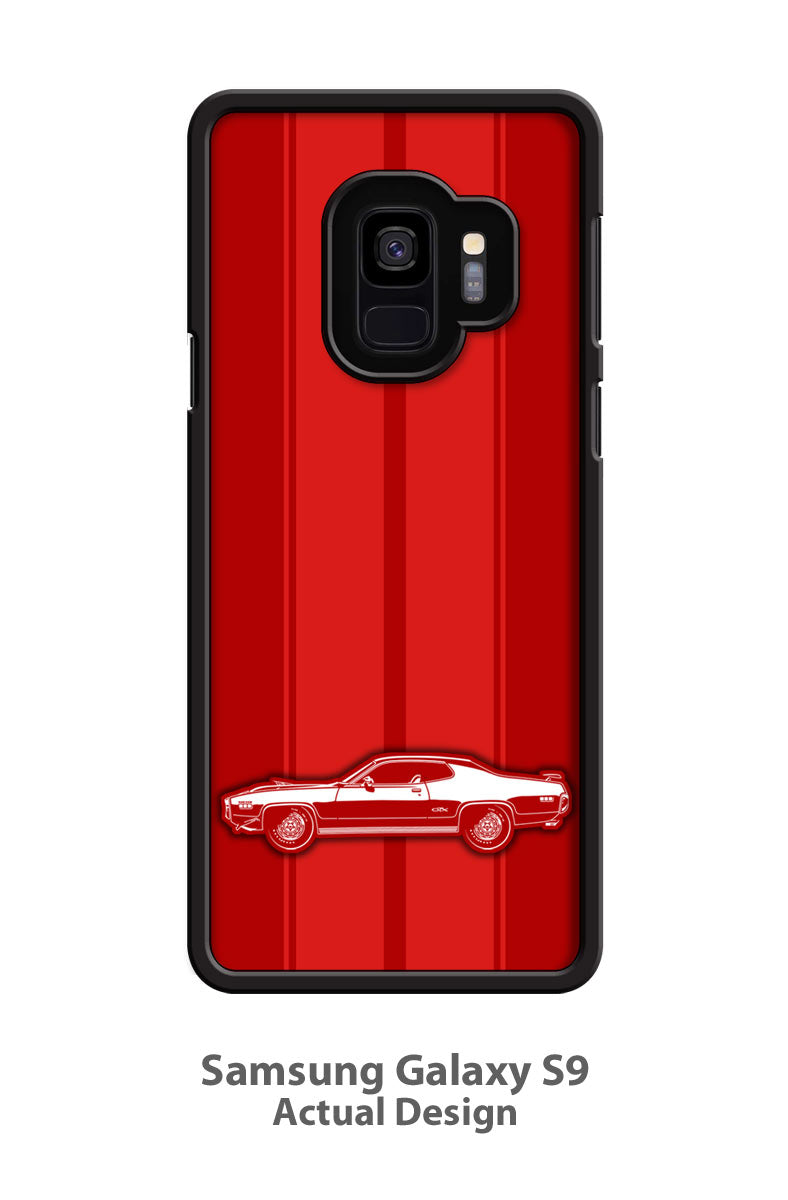 Plymouth GTX 1971 HEMI Coupe Smartphone Case - Racing Stripes