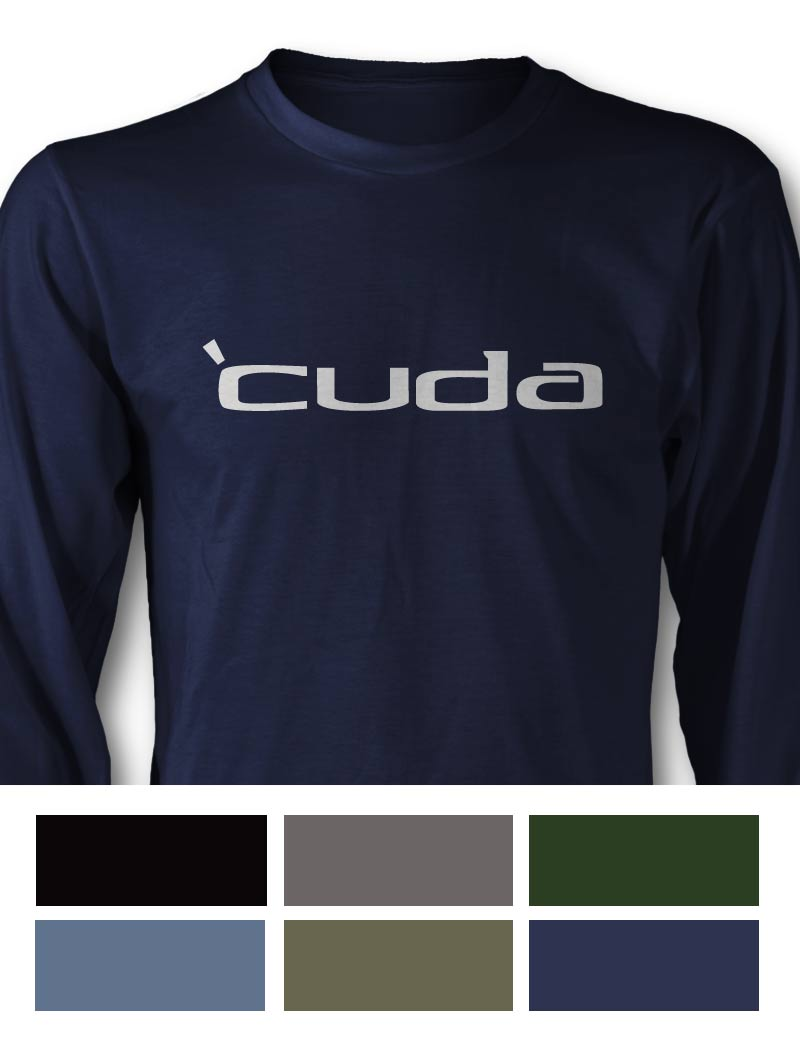 Emblem Plymouth 'Cuda 1970 - 1974 Long Sleeve T-Shirt - Side View
