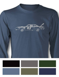 Plymouth Superbird 1970 R. PETTY - NASCAR Long Sleeve T-Shirt - Side View