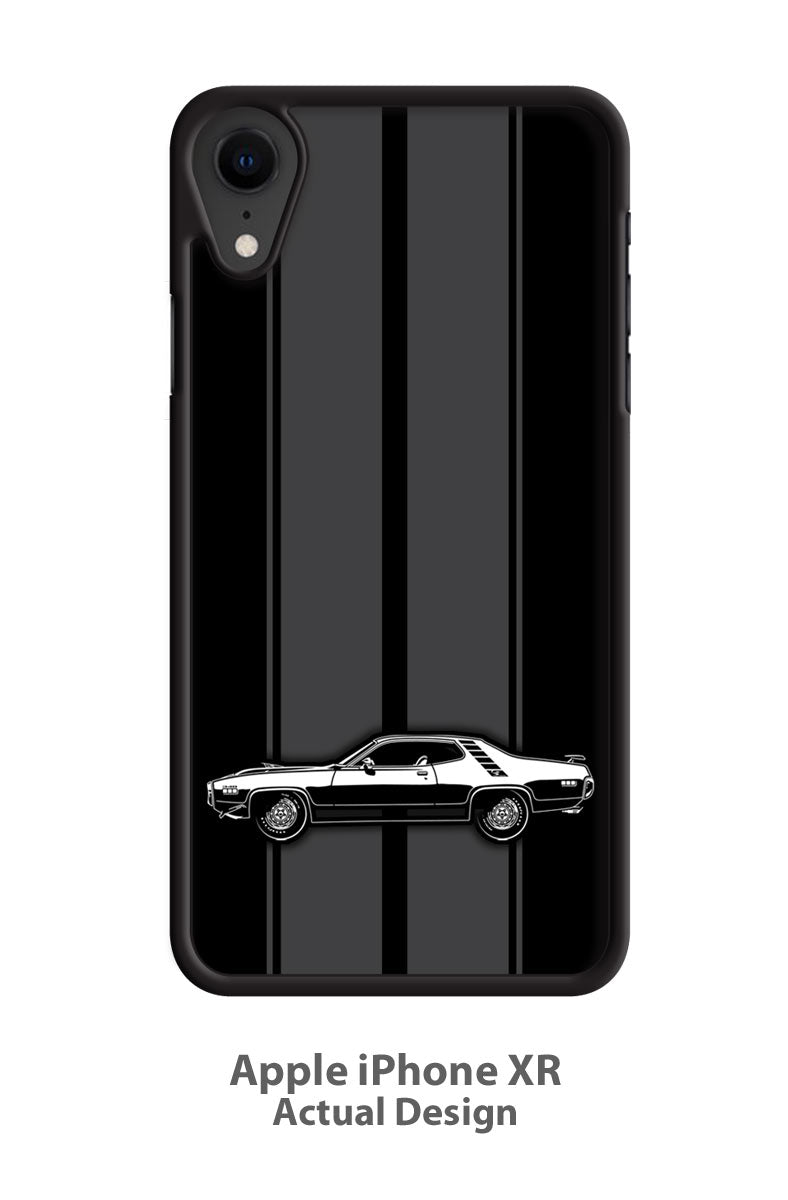 Plymouth Road Runner 1971 340 Coupe Smartphone Case - Racing Stripes