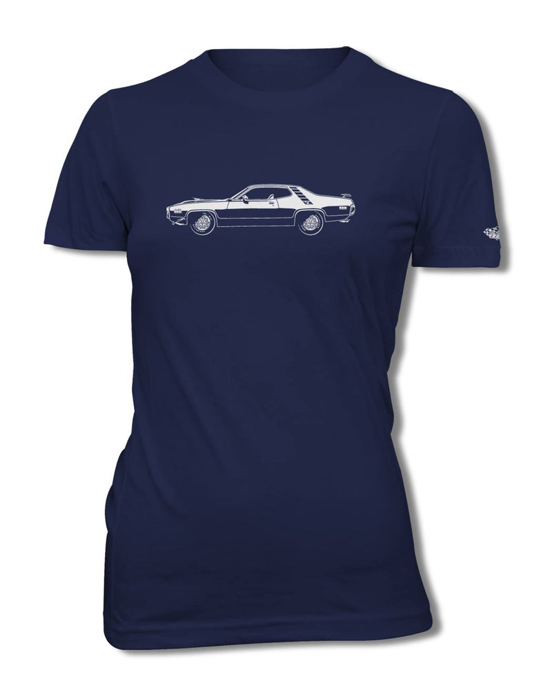 1971 Plymouth Road Runner 440-6 Coupe T-Shirt - Women - Side View