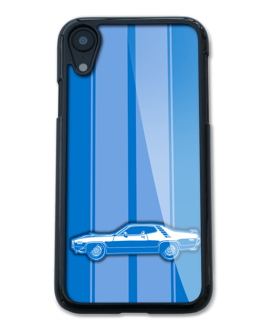 1971 Plymouth Road Runner 383 Coupe Smartphone Case - Racing Stripes