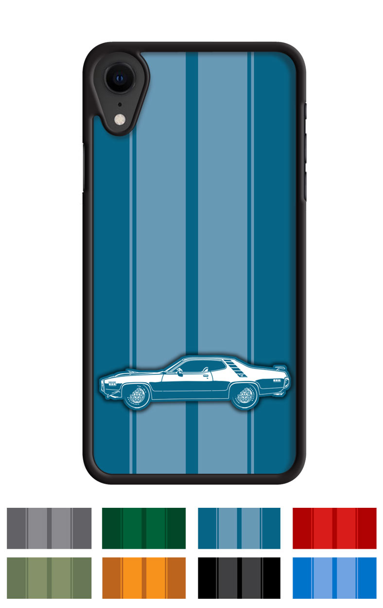 Plymouth Road Runner 1971 HEMI Coupe Smartphone Case - Racing Stripes