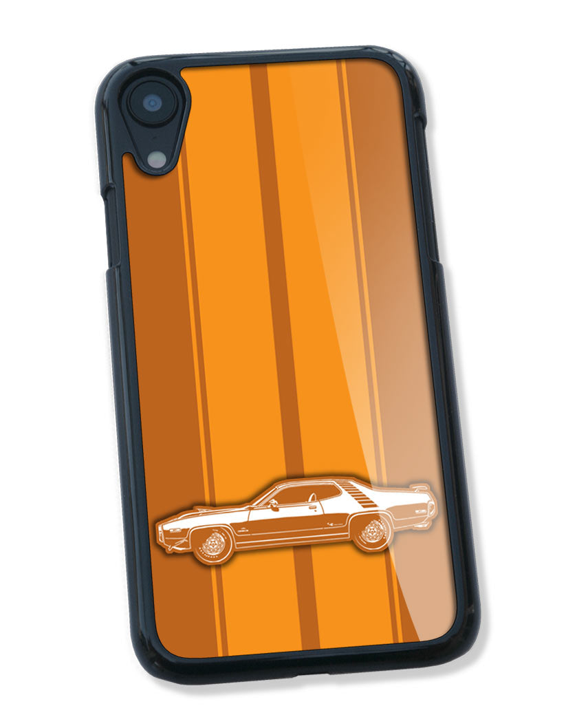 1972 Plymouth Road Runner 383 Coupe Smartphone Case - Racing Stripes