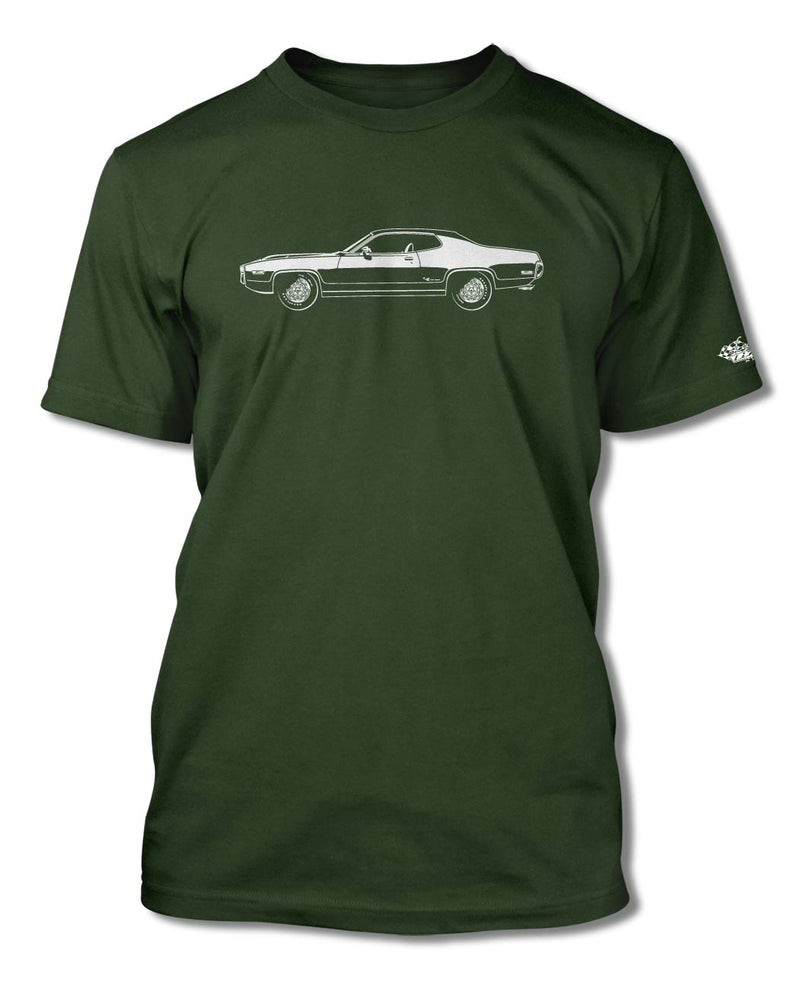 1972 Plymouth Road Runner Coupe T-Shirt - Men - Side View