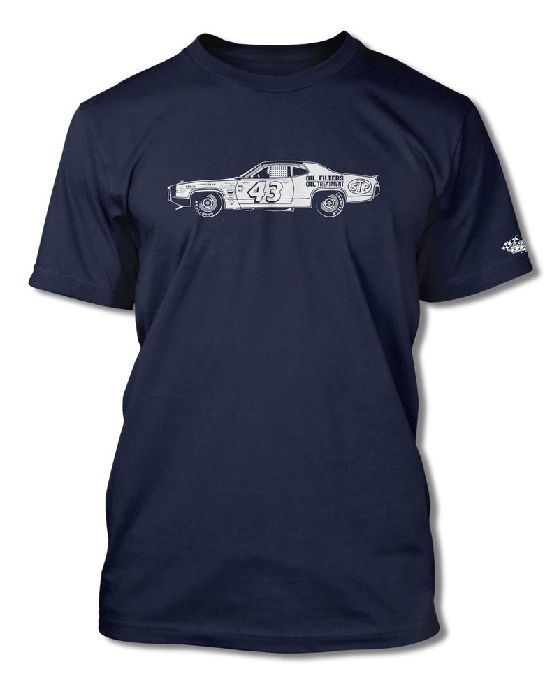 1972 Plymouth Road Runner R. PETTY - NASCAR T-Shirt - Men - Side View