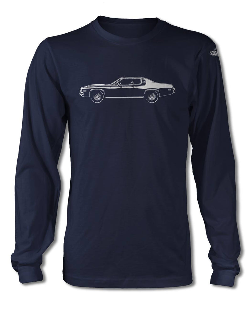 1974 Plymouth Road Runner Coupe T-Shirt - Long Sleeves - Side View