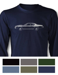 Plymouth Road Runner 1974 Coupe Long Sleeve T-Shirt - Side View