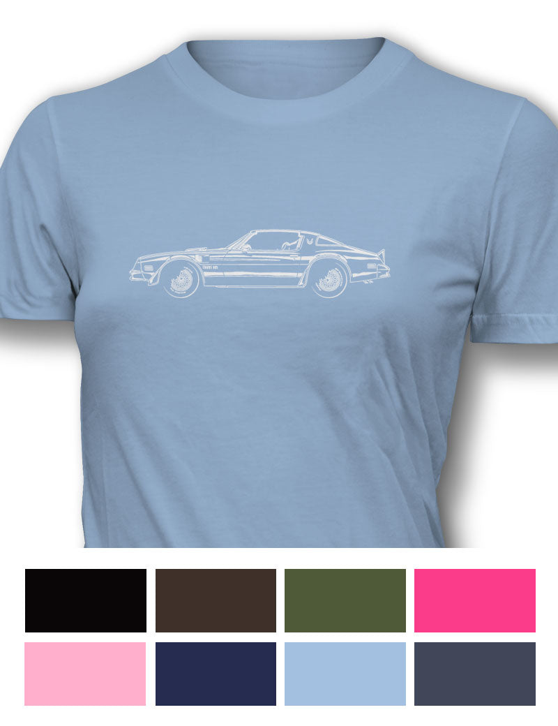 1977 Pontiac Trans Am Coupe Women T-Shirt - Side View