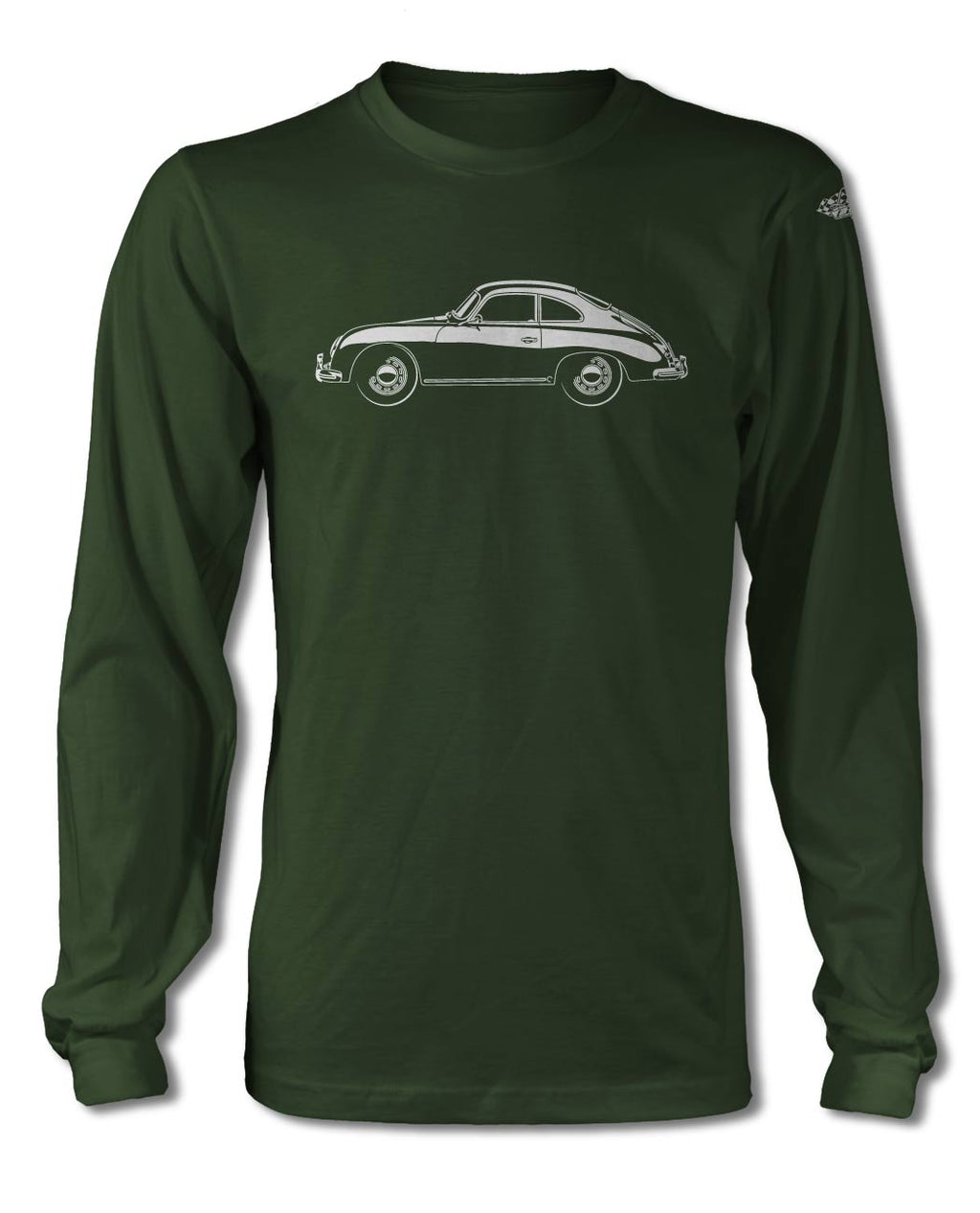 Porsche 356A Coupe T-Shirt - Long Sleeves - Side View