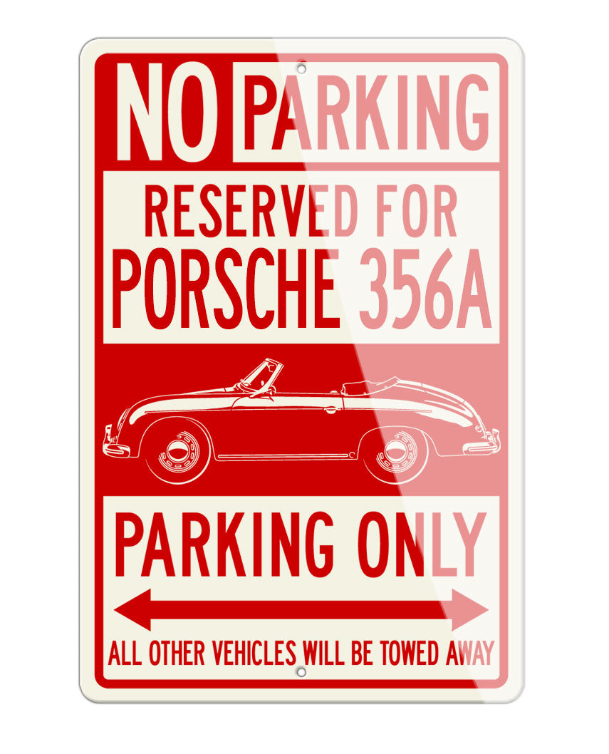 Porsche 356A Convertible Reserved Parking Only Sign