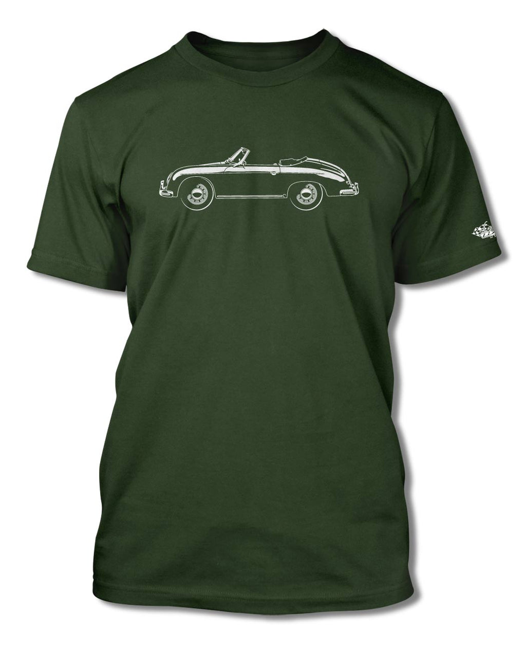 Porsche 356A Convertible T-Shirt - Men - Side View