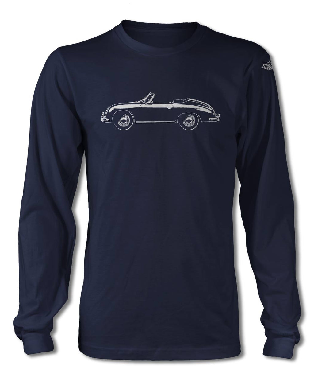 Porsche 356A Convertible T-Shirt - Long Sleeves - Side View