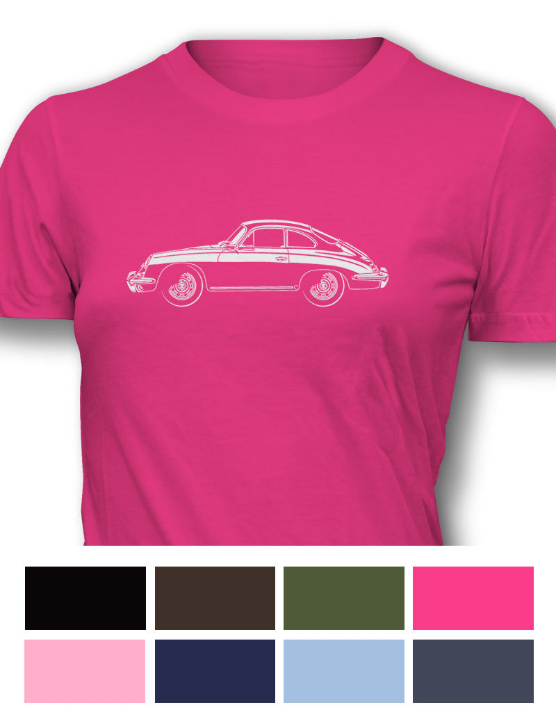 Porsche 356C Coupe Women T-Shirt - Side View