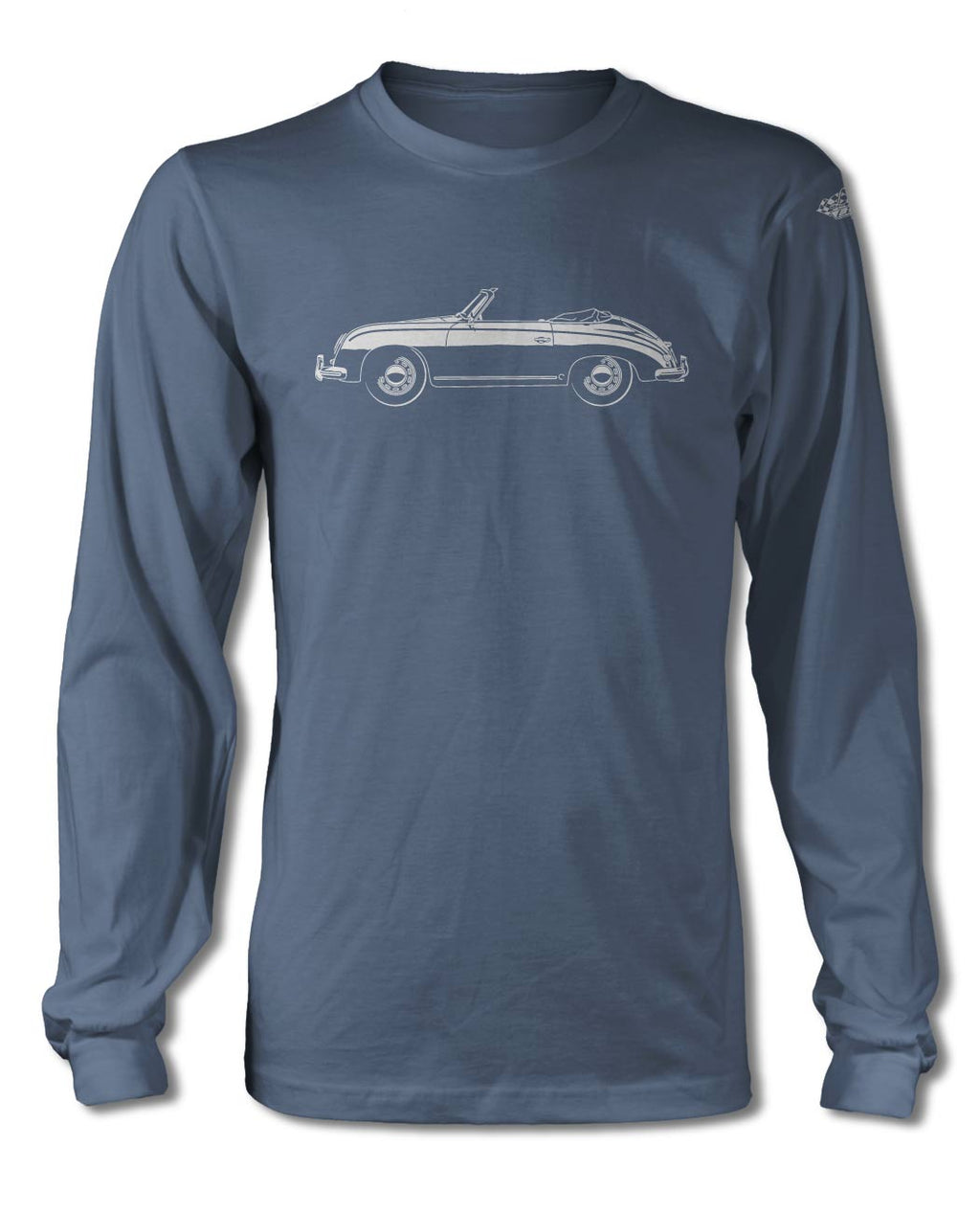 Porsche 356 Pre-A Convertible T-Shirt - Long Sleeves - Side View