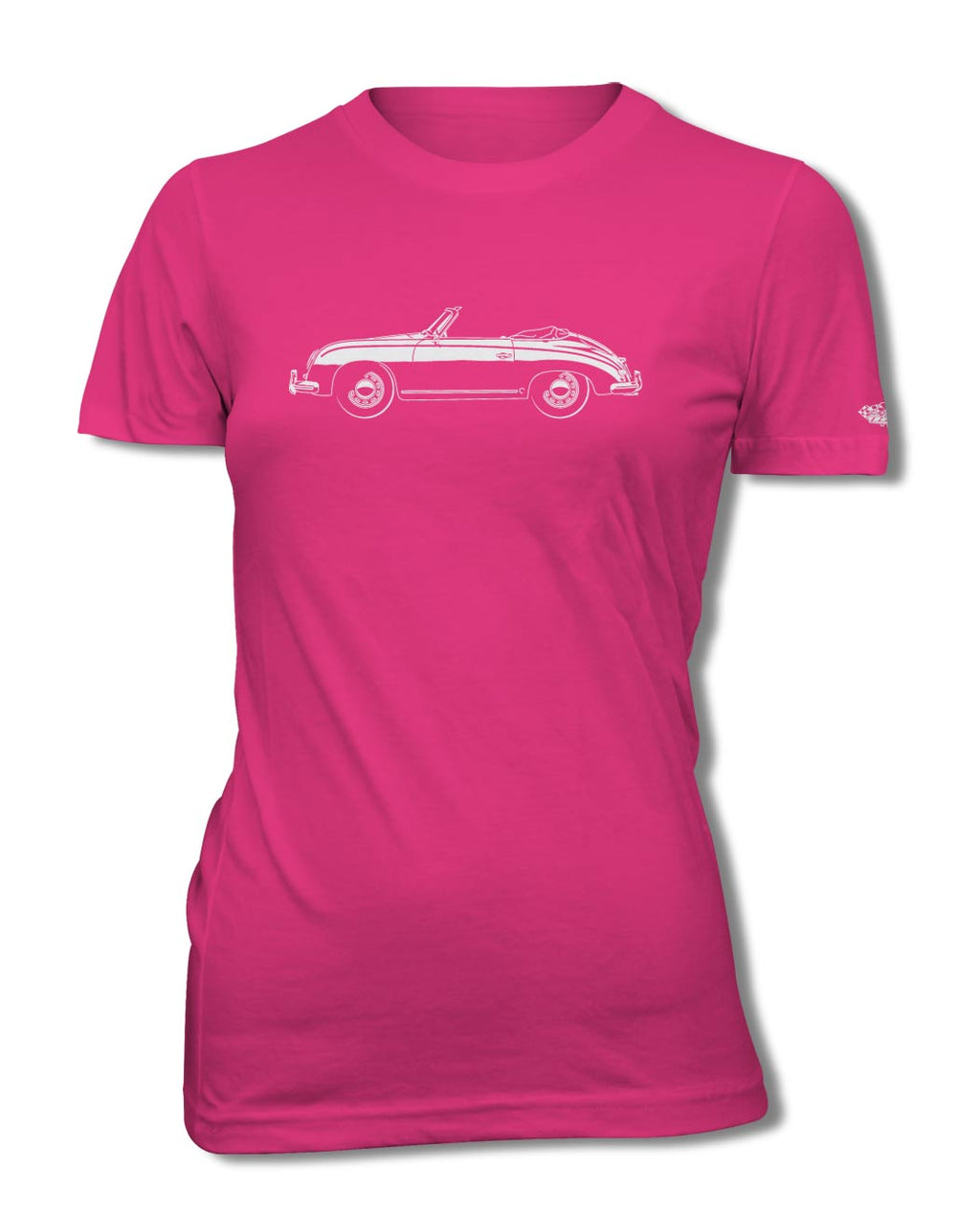 Porsche 356 Pre-A Convertible T-Shirt - Women - Side View