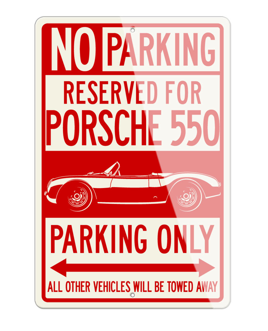 Porsche 550 Spyder Reserved Parking Only Sign