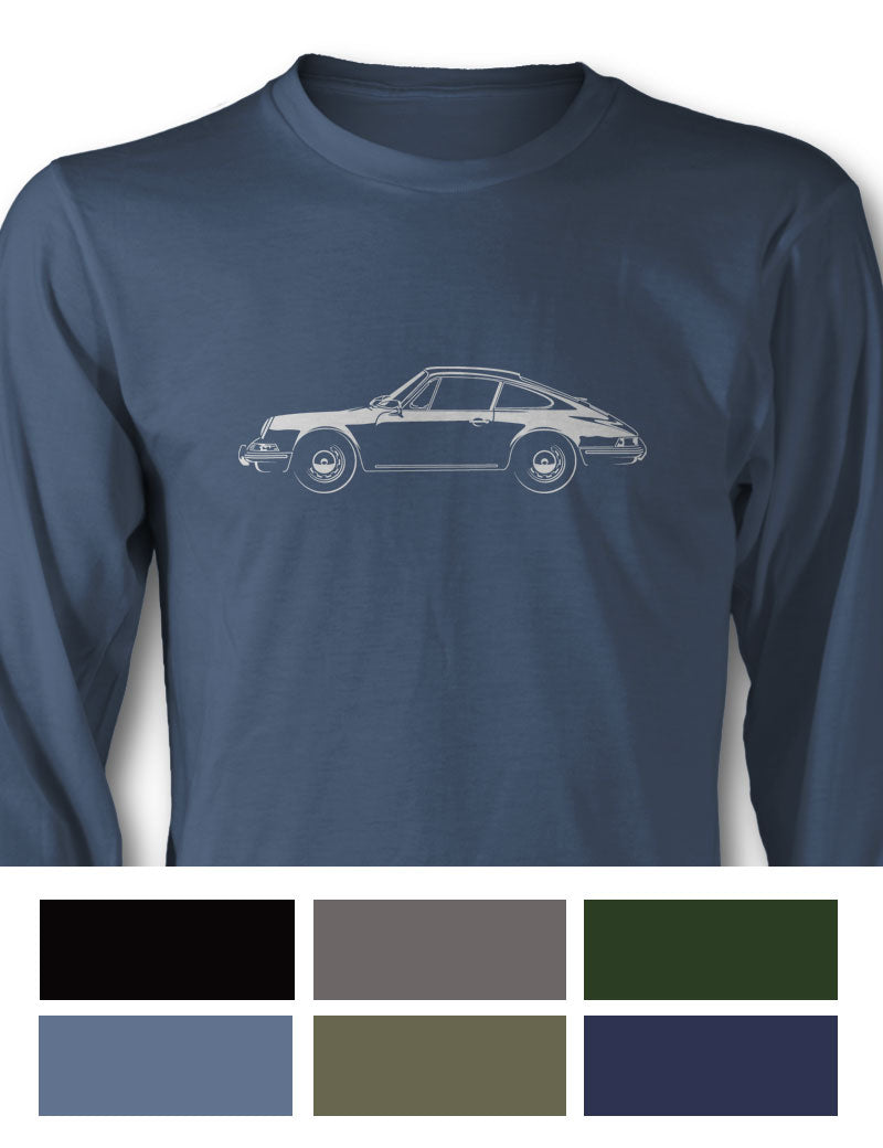 Porsche 911 1963 Coupe Long Sleeve T-Shirt - Side View