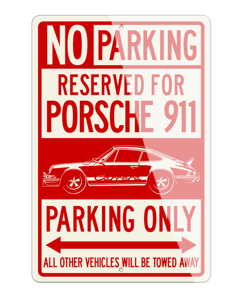 Porsche 911 Carrera RS Reserved Parking Only Sign
