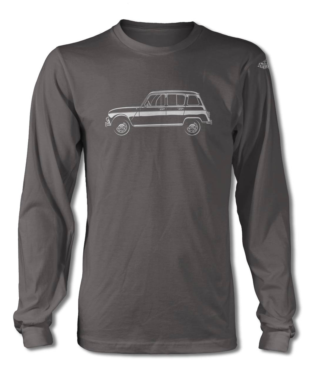Renault R4 4L 1961 - 1977 T-Shirt - Long Sleeves - Side View