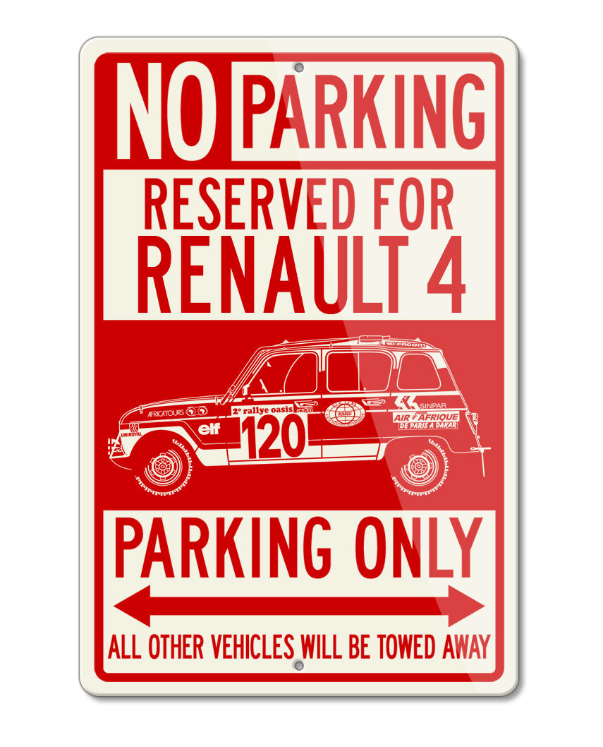 Renault R4 4L Sinpar / Marreau 1979 - 1980 Reserved Parking Only Sign
