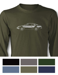 Alpine Renault A110 Berlinette Long Sleeve T-Shirt - Side View