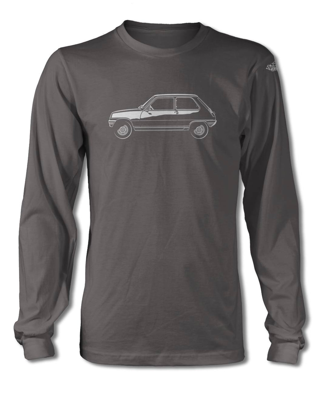 Renault 5 R5 1972 - 1985 T-Shirt - Long Sleeves - Side View