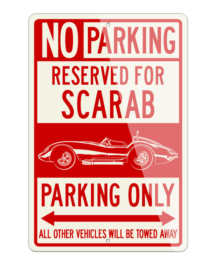 Reventlow Scarab 1958 Sports Roadster Reserved Parking Only Sign