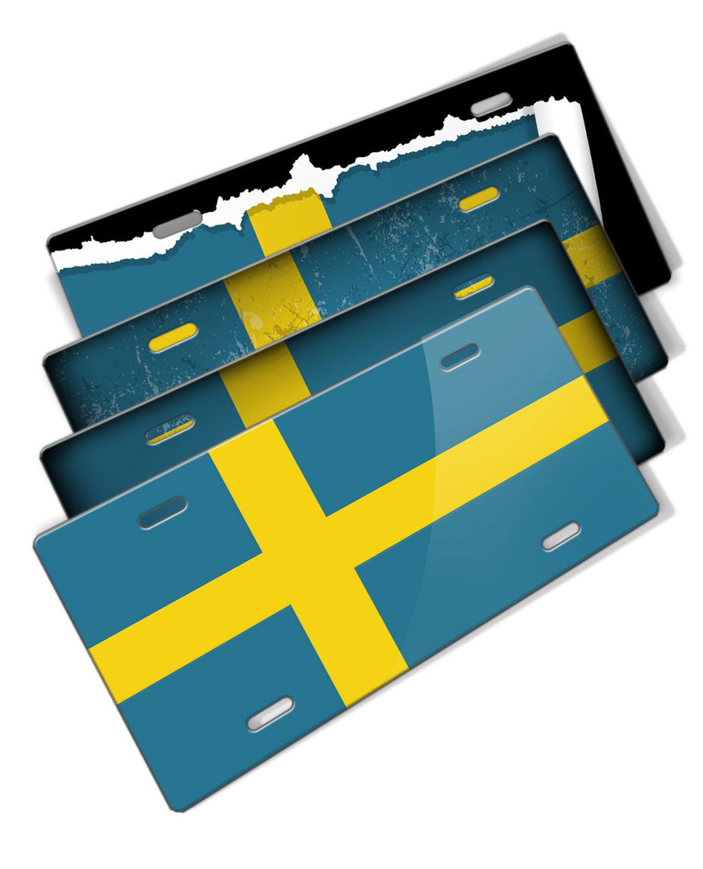 Swedish Flag Novelty License Plate