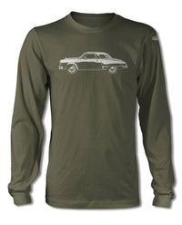 Studebaker Starlight Coupe 1950 T-Shirt - Long Sleeves - Side View