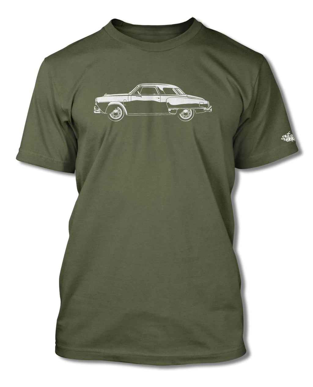 Studebaker Starlight Coupe 1950 T-Shirt - Men - Side View