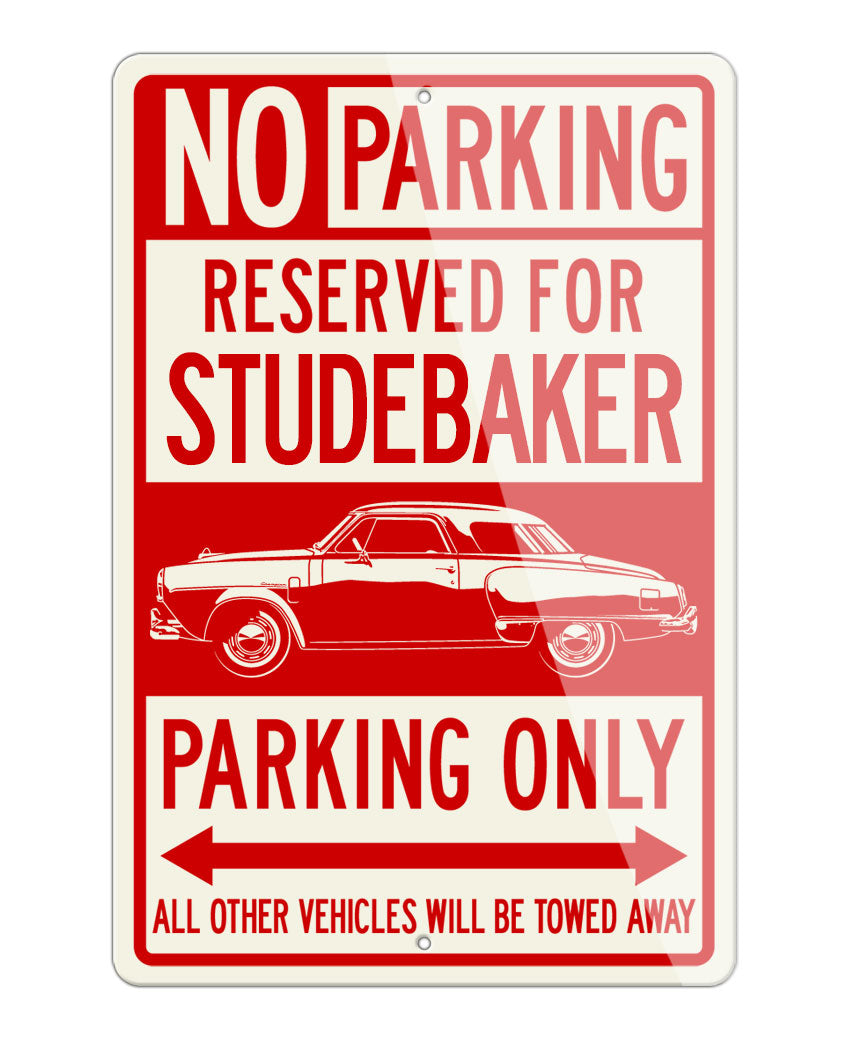Studebaker Starlight Coupe 1950 Reserved Parking Only Sign