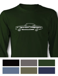 Studebaker Starlight Coupe 1953 Long Sleeve T-Shirt - Side View