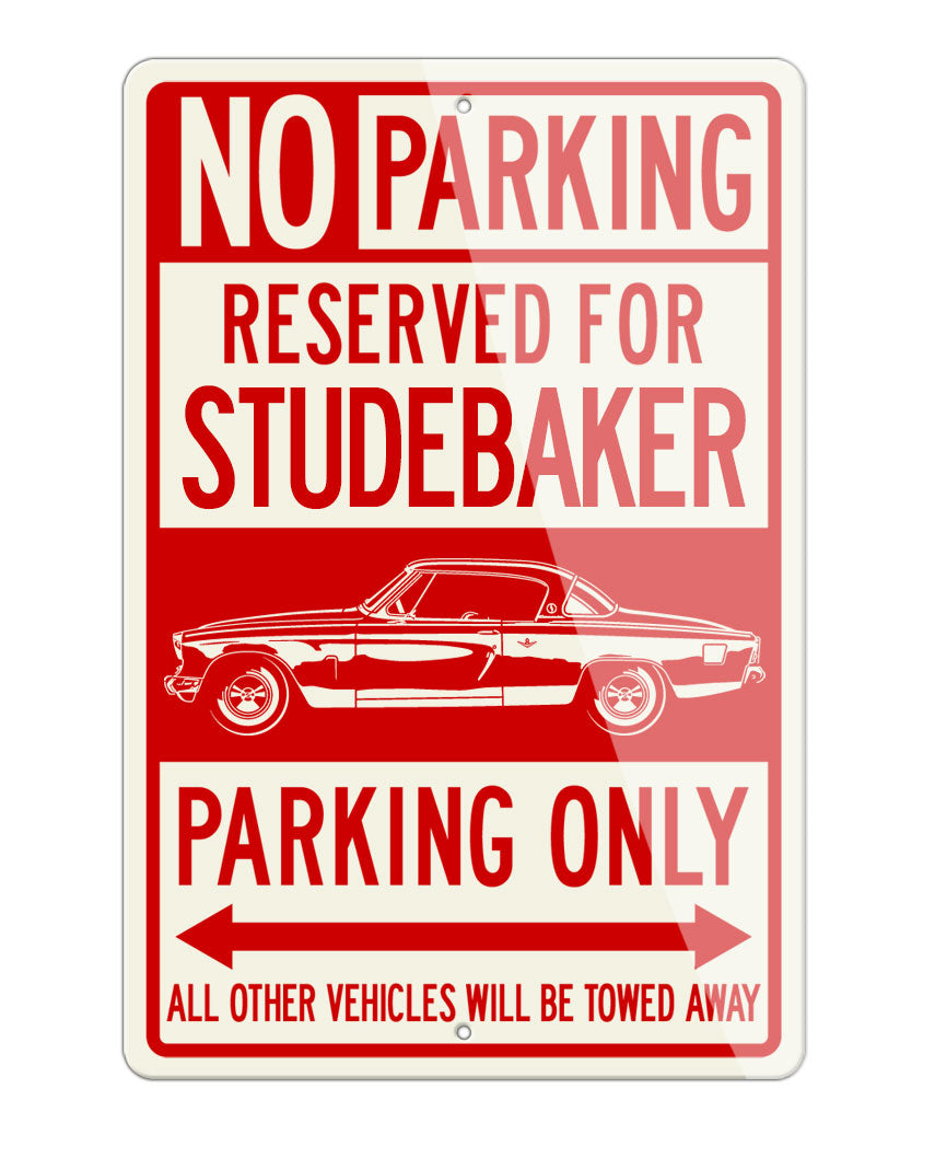 Studebaker Starlight Coupe 1953 Reserved Parking Only Sign