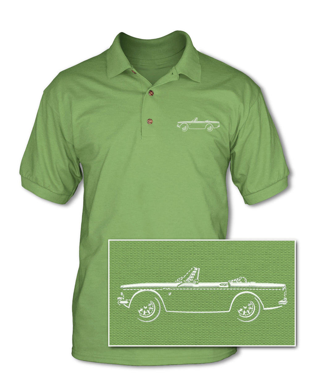 Sunbeam Tiger Convertible Adult Pique Polo Shirt - Side View