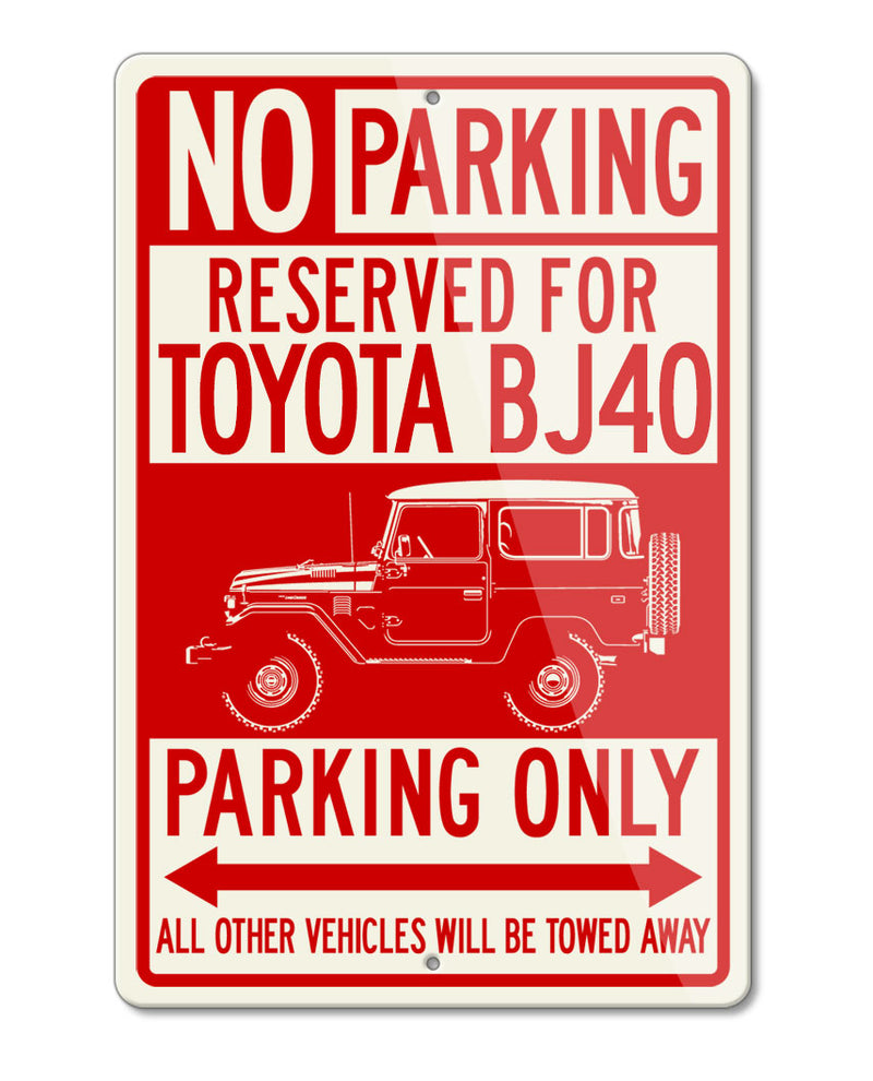 Toyota BJ40 Land Cruiser 4x4 Reserved Parking Only Sign
