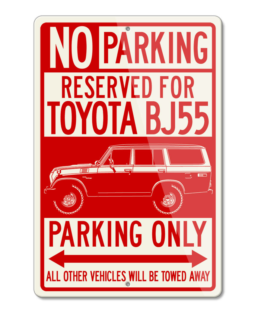 Toyota BJ55 Land Cruiser 4x4 Reserved Parking Only Sign