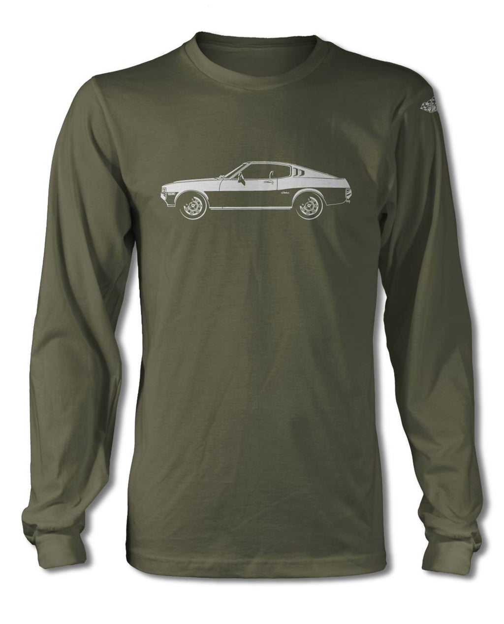 Toyota Celica Liftback 1973 – 1977 T-Shirt - Long Sleeves - Side View