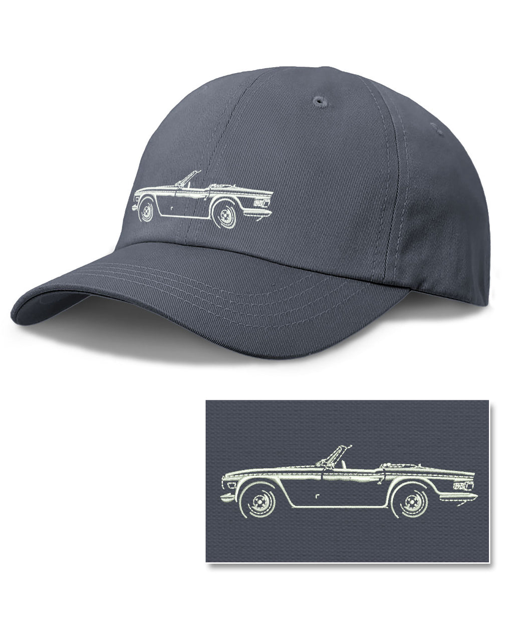 Triumph TR6 Convertible Baseball Cap for Men & Women